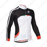 2013 Team Santini Cycling Long Jersey Black White
