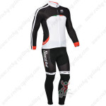 2013 Team Santini Cycling Long Kit Black White