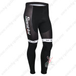 2013 Team Santini Cycling Long Pants Black White