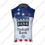 2013 Team Tinkoff SAXO BANK Cycling Sleeveless Jersey Maillot