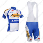2013 Team Topsport Cycling Bib Kit White Blue