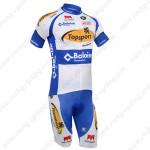 2013 Team Topsport Cycling Kit White Blue