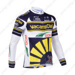 2013 Team Vacansoleil Cycling Long Sleeve Jersey