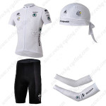 2013 Tour de France Cycling Set Jersey and Shorts+Bandana+Arm Warmers White