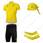 2013 Tour de France Cycling Set Jersey and Shorts+Bandana+Arm Warmers Yellow