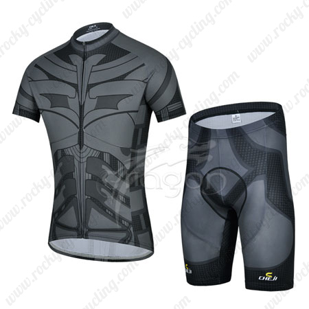 9b483af78 2014 Batman Pro Cycle Apparel Riding Jersey and Padded Shorts Black ...