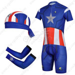 2014 Captain America Cycling Suit+Gears