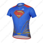 2014 Super Man Cycling Jersey Blue
