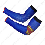 2014 Superman Cycling Arm Warmers Sleeves Blue