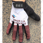 2014 Team AG2R LA MONDIALE Winter Cycling Thermal Fleece Gloves White Brown