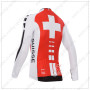 2014 Team ASSOS Bicycle Long Jersey Red White Cross