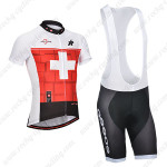 2014 Team ASSOS Cycling Bib Kit Red