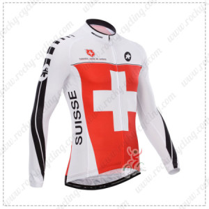 2014 Team ASSOS Cycling Long Jersey Red White Cross2014 Team ASSOS Cycling Long Jersey Red White Cross