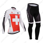 2014 Team ASSOS Cycling Long Kit Red White Cross