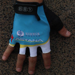 2014 Team ASTANA Cycling Gloves Mitts Blue White