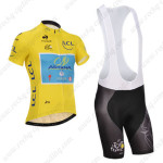 2014 Team ASTANA Tour de France Cycling Bib Kit Yellow