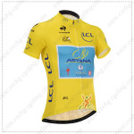 2014 Team ASTANA Tour de France Cycling Jersey Yellow