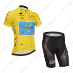 2014 Team ASTANA Tour de France Cycling Kit Yellow