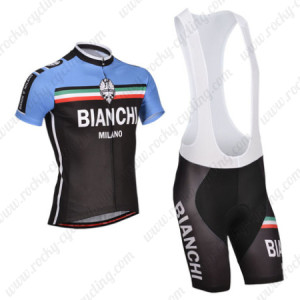 2014 Team BIANCHI Cycling Bib Kit Black Blue