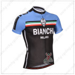 2014 Team BIANCHI Cycling Jersey Black Blue