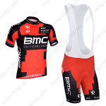 2014 Team BMC Cycling Bib Kit Red Black
