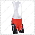 2014 Team BMC Cycling Bib Shorts Red Black