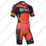 2014 Team BMC Cycling Skinsuit Red Black