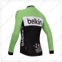 2014 Team Belkin Bicycle Long Jersey Green Black2014 Team Belkin Bicycle Long Jersey Green Black