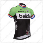 2014 Team Belkin Cycling Jersey Red Blue