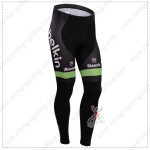 2014 Team Belkin Cycling Long Pants Green Black