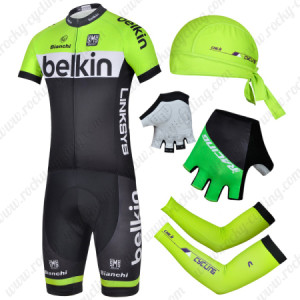 2014 Team Belkin Pro Cycling Set Black Green
