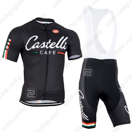 d70c25c1d 2014 Team Castelli CAFE Biking Outfit Riding Jersey and Padded Bib ...
