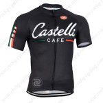 2014 Team CASTELLI CAFE Cycling Jersey Black