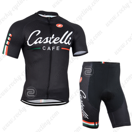 ... Riding Outfit Biking Jersey and Padded Shorts. 2014 Team CASTELLI CAFE  Cycling Kit Black 025c33aa3