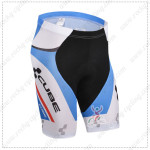 2014 Team CUBE Cycling Shorts White Blue