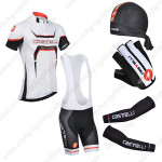 2014 Team Castelli Pro Cycling Bib Suit White+Gears