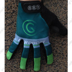 2014 Team Europcar Winter Cycling Thermal Fleece Gloves Green
