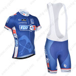 2014 Team FDJ Cycling Bib Kit Blue