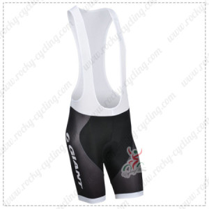 2014 Team GIANT Cycling Bib Shorts White Black