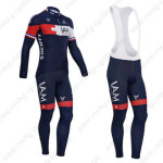 2014 Team IAM SCOTT Cycling Long Bib Kit Dark Blue