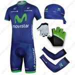 2014 Team MOVISTAR Cycling Set Blue