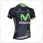 2014 Team Movistar Cycling Jersey Dark Blue