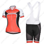 2014 Team NALINI Women Cycling Bib Red Black