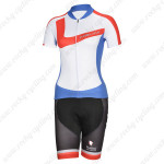 2014 Team NALINI Women Cycling Kit White Blue
