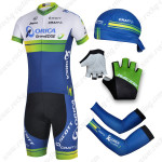 2014 Team ORICA GreenEDGE Cycling Set White Blue