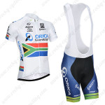 2014 Team ORICA GreenEDGE South Africa Cycling Bib Kit White