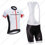 2014 Team PINARELLO Cycling Bib Kit White Red