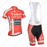 2014 Team SAXO BANK Cycling Bib Kit Red