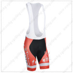 2014 Team SAXO BANK Cycling Bib Shorts Red