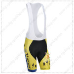2014 Team SAXO BANK Cycling Bib Shorts Yellow Blue